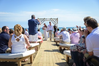 humanist wedding on a beach in spain