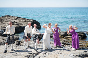 scottish wedding on a beach in spain