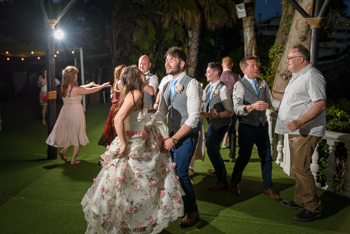 costa del sol beach wedding party