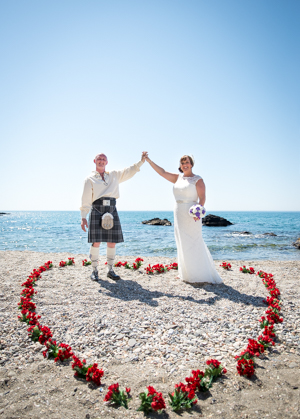 scottish wedding on a beach