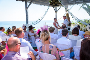 humanist beach wedding