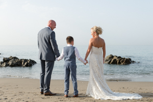 wedding on a beach in spain