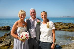 vow renewal on a beach in benalmadena